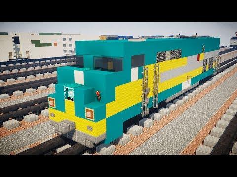 Minecraft VIA Rail P42DC Locomotive Train Tutorial
