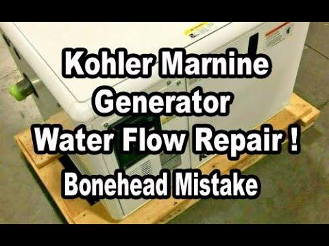 Diagnosing a water flow issue on my Kohler Generator