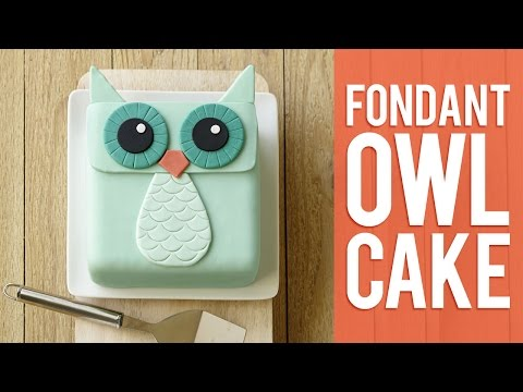 How to Make a Fondant Owl Cake