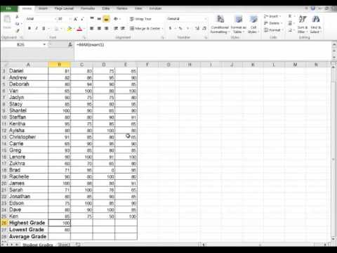 Excel - naming ranges, deleting ranges, for excel 2007, 2010