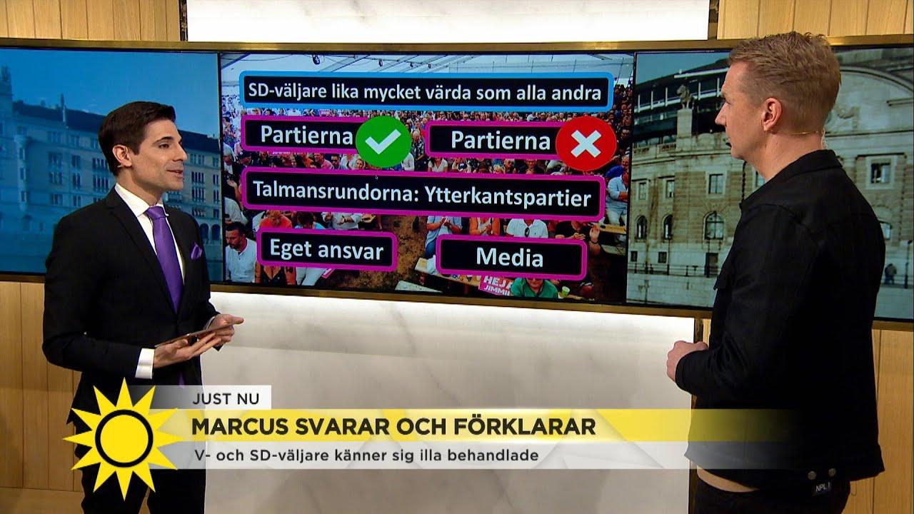 """Marcus:""""Säger jag att Åkesson vann debatten så kommer massa arga mejl om att T… - Nyhetsmorgon (TV4)"""