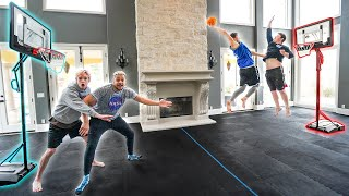 I BUILT A Full Indoor Basketball Mini Hoop COURT!