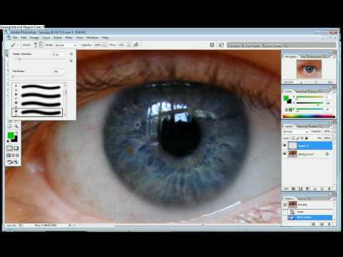 How to Change Eye Colour | Photoshop CS2