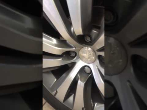 Peugeot security wheel bolt removal