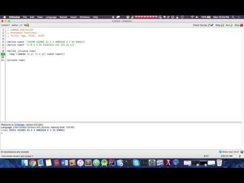 Functional Programming (Racket): Map Function