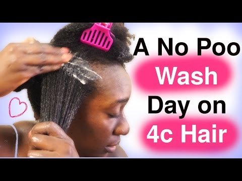 Clean 4c Natural Hair without using Shampoo: Wash Day Alternatives
