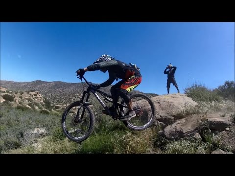 The Grudge and G Spot DH Trails, Simi Valley MTB, first ride on DVO Topaz, April 2, 2017,