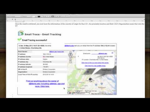 Track Email Sender using IP