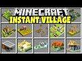 Minecraft INSTANT VILLAGES MOD | CREATE A HUGE MINECRAFT VILLAGE INSTANTLY!!