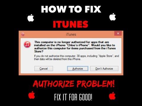 iTunes Authorization Problem Fixed!