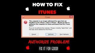 Itunes Authorization Problem Fixed