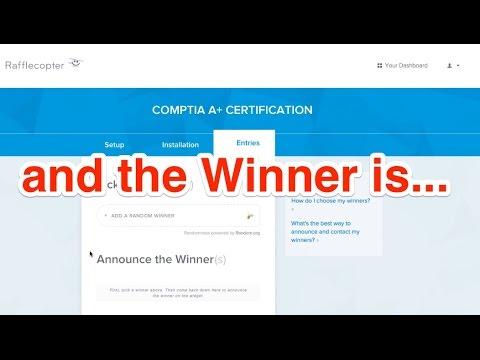 CompTIA Giveaway Winner