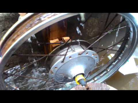 SELF ROTATING WATER WHEEL / WATER PUMP WITH OUT ELECTRICITY