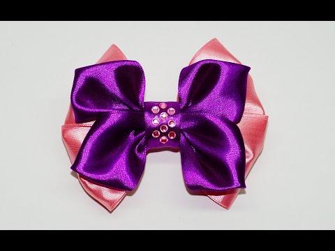 DIY crafts How to Make Simple Easy Bow/ Ribbon Hair Bow Tutorial / DIY ribbon bow / Julia DIY