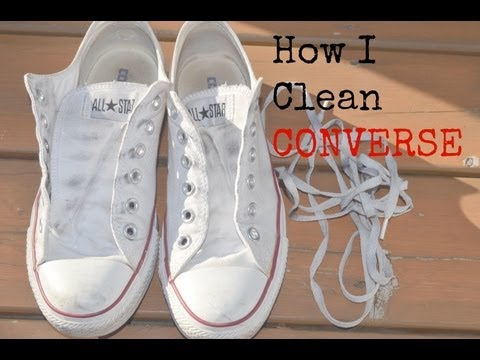 How I Clean Converse