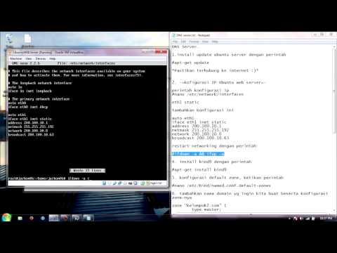 Video Tutorial DHCP Server, DNS Server, Web & Mail Server @ Ubuntu Server 14.04