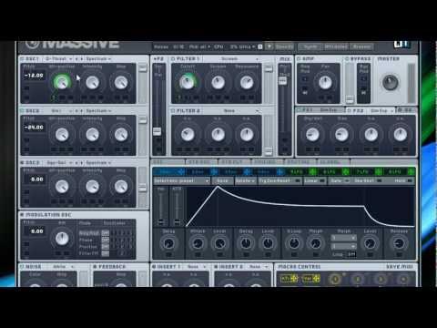 Skrillex NI Massive Roar Bass Tutorial w/preset