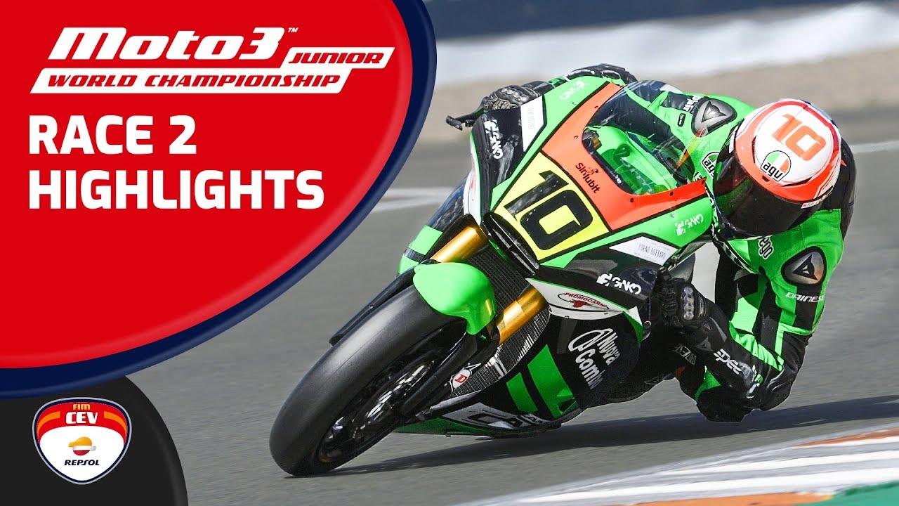 Highlights - Race 2 | Valencia 2019 |  Moto3 Junior World Championship | FIM CEV Repsol