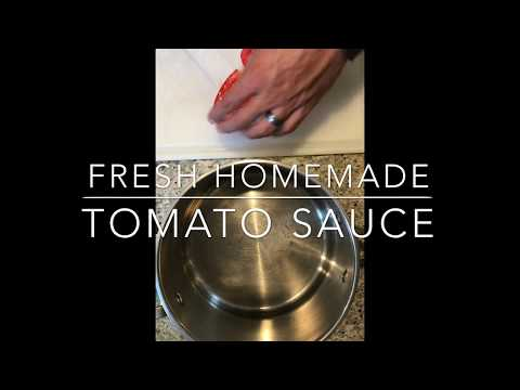 How to Make Marinara Tomato Sauce from Fresh Picked Tomatoes: Old School Italian Style