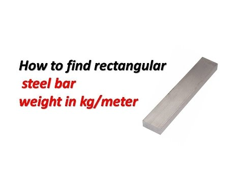 How to find rectangular steel steel  bar weight in kg/meter