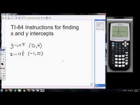 Finding x,y intercepts TI84