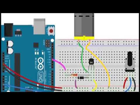 how to  control dc motor speed with potentiometer arduino + code
