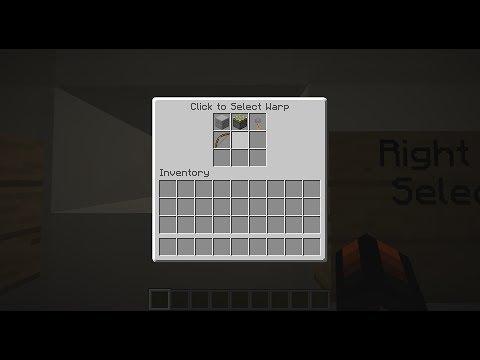 Awesome GUI Menu/Warp Center in Vanilla Minecraft