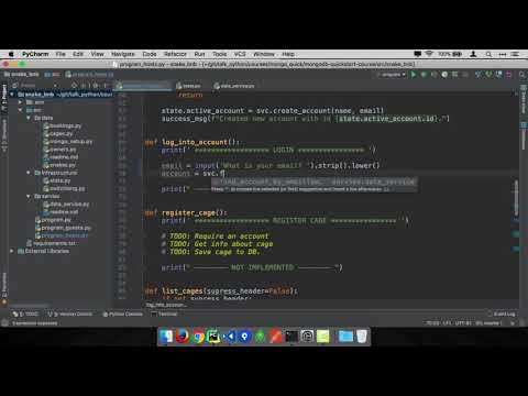 MongoDB and Python Quickstart (9/21): Demo: Login