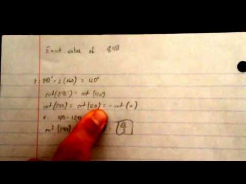Problem 2: Finding the exact value of 840 degrees