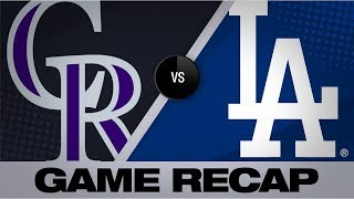 Bellinger's grand slam lifts Dodgers to win   Rockies-Dodgers Game Highlights 9/22/19