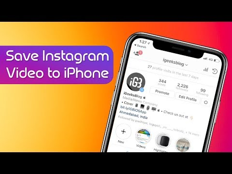 How to Download Instagram Videos to iPhone Camera Roll