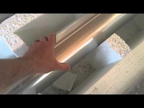 HVAC underground installation complete & ready for inspection