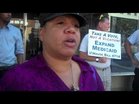 Medicaid Protest   Monroe, MI