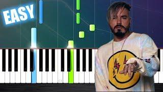 J. Balvin, Willy William - Mi Gente - EASY Piano Tutorial by PlutaX
