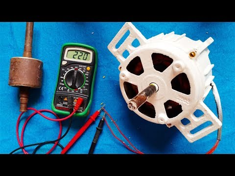 How to make electricity generator from any induction motor / DIY Generator