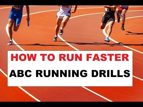 How to RUN faster - ABC running drills  to improve form and speed for runners sprint sprinter