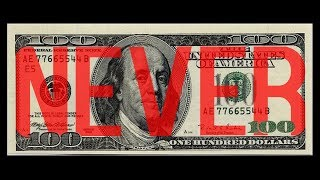 3 THINGS YOU SHOULD NEVER DO WITH YOUR MONEY