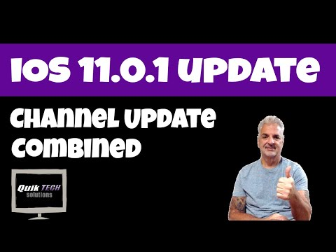 iOS 11 Update and A Channel Update