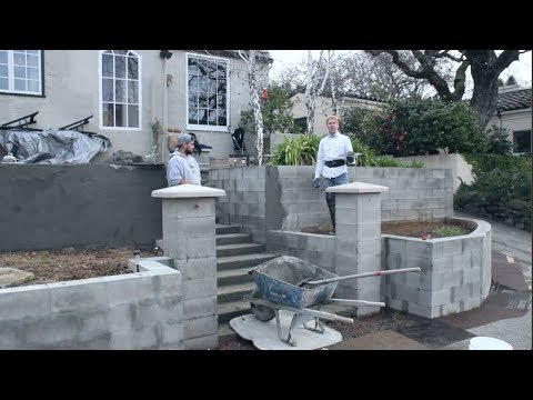 Ideas for Making your cinder/cement Blocks match your concrete home finish