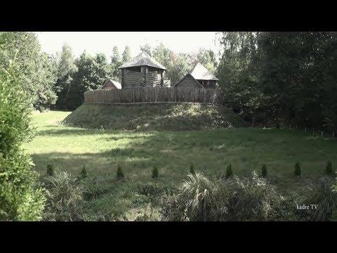 wooden castle in Poland, Oszkinie - wieś w Polsce