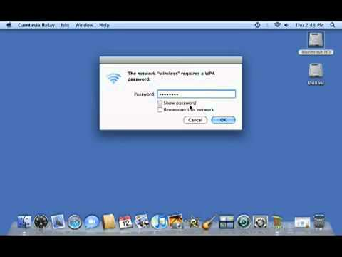 Apple Mac OS X - How to Connect to a Wireless Network