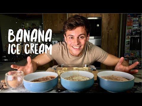 My Post-Workout Fave! | Banana Ice Cream Three Ways | Tom Daley
