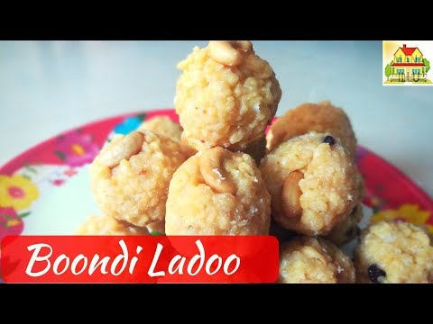 Boondi Ladoo Recipe in Telugu || Boondi Laddu
