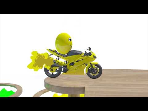 LEARN COLOR Motorcycles w Surprise Eggs for kids and Nursery Rhymes cartoon for babies Children