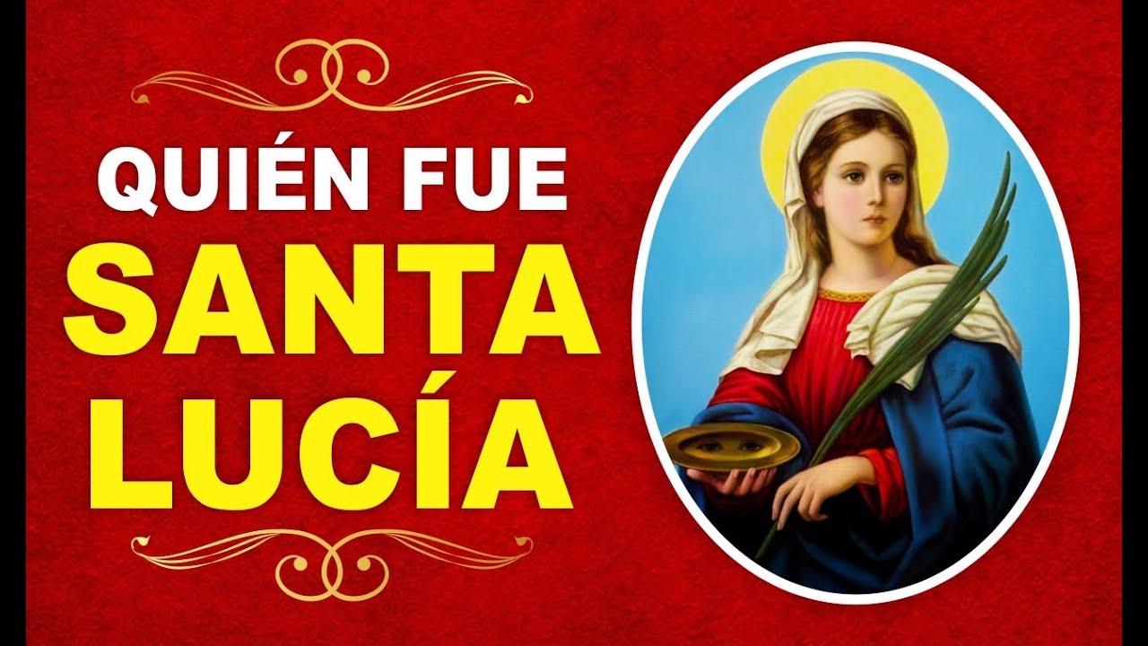➤ ¿Quién fue Santa Lucía? ✔