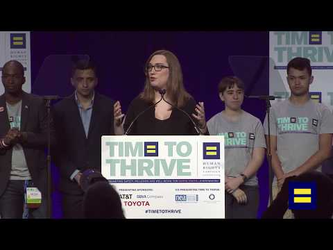 HRC's National Press Secretary Sarah McBride Speaks at 2018 Time To Thrive LGBTQ Youth Conference