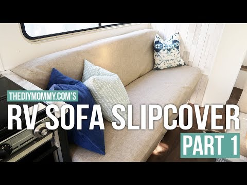 How to Sew a Slipcover for an RV Jackknife Sofa | PART ONE | Vlogust Day 12