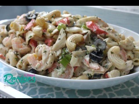 How to make Seafood Macaroni Salad - I Heart Recipes