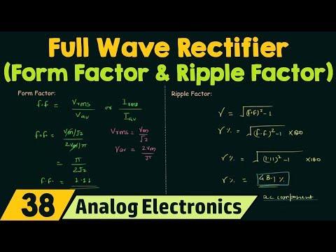 Full Wave Rectifier (Form Factor & Ripple Factor)