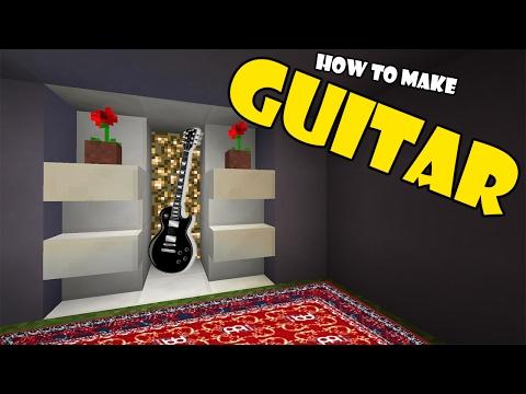 How to Make a GUITAR | Minecraft PE (Pocket Edition) MCPE